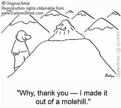 mountain out of a mole hill Making a mountain out of a mole hill – combining low severity vulnerabilities to devastating effect there are four.