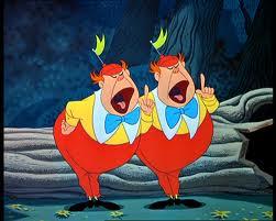 """Tweedle Dee and Tweedle Dum, my Shoulder Angel & Devil... aka """"Shoulder Monkeys"""""""