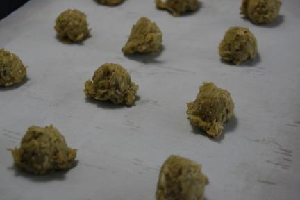 A brigade of cookie dough balls.