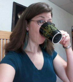 Gratuitous, non-ducked faced selfie for Fancy Coffee Friday.
