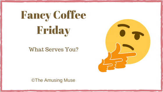 he Amusing Muse : What Serves You blog title post image questioning smiley face emoticon