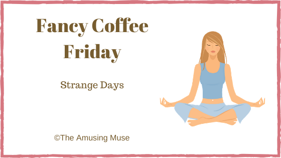 The Amusing Muse : Strange Days blog title post image woman meditating