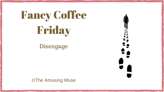 The Amusing Muse : Disengage blog title post image of silhouette walking away
